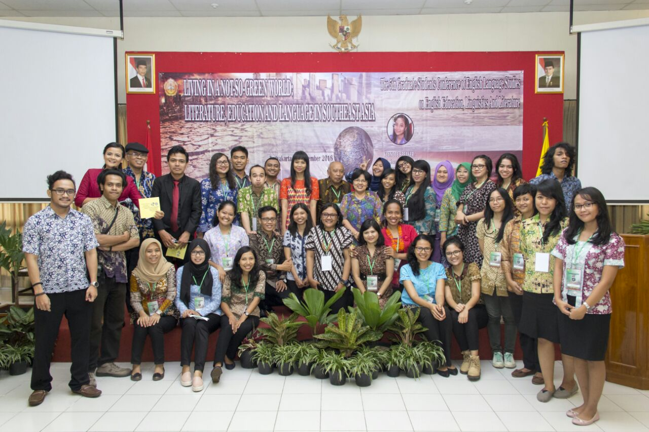 The 5th GSC- Living in a Not-So-Green World: Literature, Education, and Language in Southeast Asia  :: Fakultas Pasca Sarjana USD Yogyakarta
