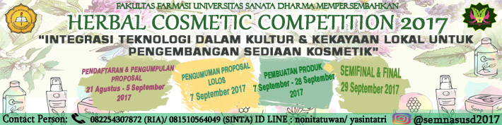 Herbal Cosmetic Competition 2017 :: usd.ac.id