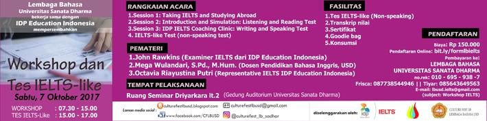 Workshop dan tes IELTS-like :: usd.ac.id