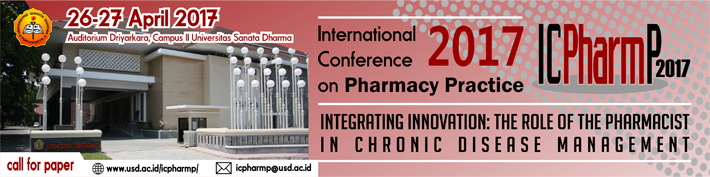 International Confrence On Pharmacy Practice 2017 :: usd.ac.id