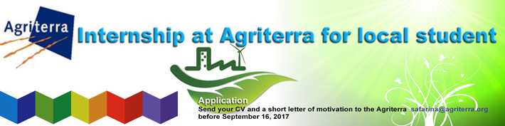 Internship at Agriterra for local student :: usd.ac.id