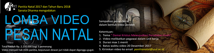 Lomba Video Pesan Natal 2017 :: usd.ac.id