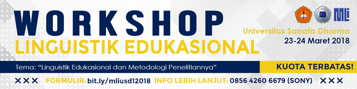 Workshop Linguistik Edukasional - MLI 2018 :: usd.ac.id