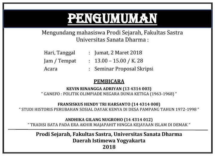 Fsastra Usd Seminar Proposal Skripsi Mahasiswa