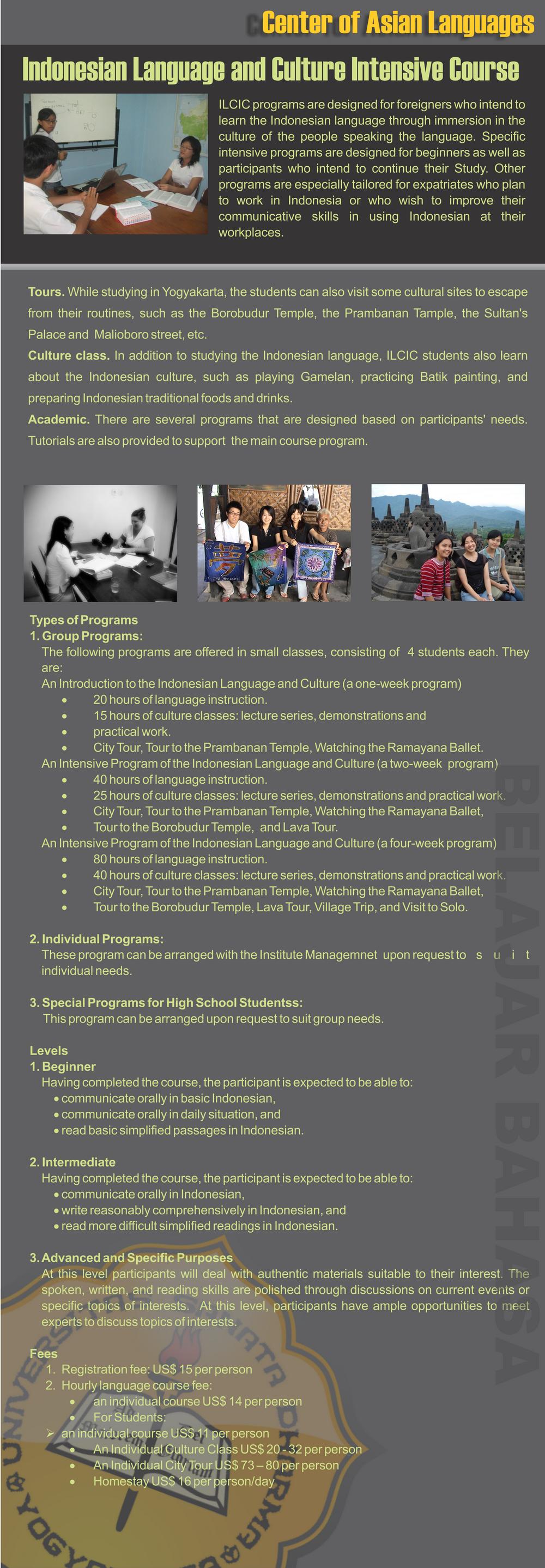 Language Institute  USD  Our Programs